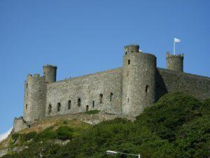 Harlech Castle, eine der größten Ritterburgen von Wales